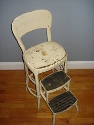 Step Stool Chair Combination Vintage Metal Stools Foter