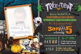 halloween birthday invitation kids halloween costume party