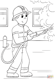cartoon firefighter coloring page free printable coloring pages