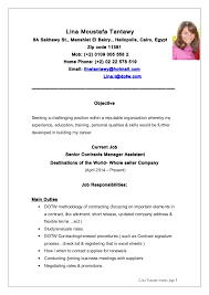 Resume Current Job by Lina Tantawy Resume New