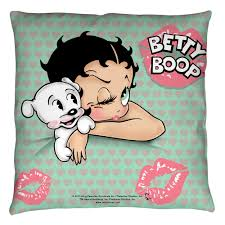 betty boop goodnight kiss throw pillow white 20x20 walmart com