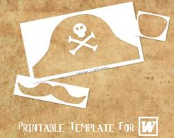 pirate hat template etsy