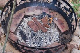 Cooking Over Fire Pit Grill - using a campfire tripod