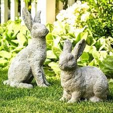 concrete bunny garden statues bunny rabbit garden statues reading