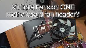 chassis fan connector splitter multiple fans on one motherboard fan header youtube