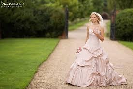 wedding gown light pink