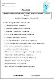 adjective worksheets for kids english worksheets pinterest