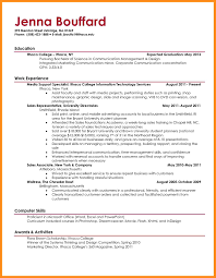 resume formats for college students high student resume