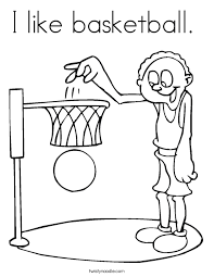 basketball coloring twisty noodle