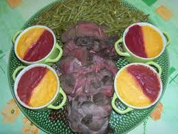 recette de cuisine sur 2 recette cuissot de chevreuil aux 2 purées et haricots verts 750g