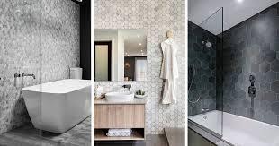 bathroom remodel tile ideas bathroom tile ideas grey hexagon tiles contemporist