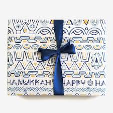 hanukkah wrapping paper happy hanukkah gift wrap paper pony co