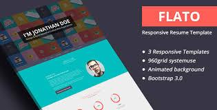 personal portfolio template flato responsive resume personal portfolio template themelock
