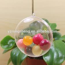 china clear plastic ball christmas ornaments oem custom open