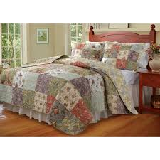 Cotton Quilted Bedspread Greenland Home Fashions Antique Chic 2 3 Piece Bedspread Set