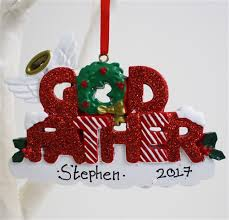 personalised ornaments for godfather godfather