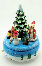 christmas hers musicbox kingdom wooden christmas box with santa and