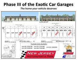 new jersey motorsports park approved for exotic car garage expansion