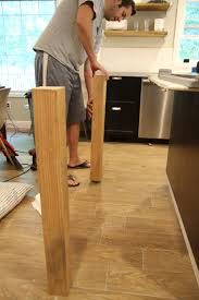 Wood Legs For Kitchen Island Customizing Our Ikea Kitchen Island Chris Loves Julia