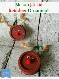 easy craft jar lid reindeer ornament the grant