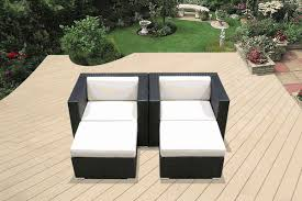 beautiful brand new outdoor wicker club chair with ottoman