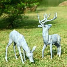 outdoor deer statues pioneerproduceofnorthpole