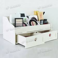 plain white wooden desk organizer victor wood letter tray inside