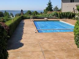Brushed Concrete Patio Colored Concrete Patio Brushed Google Search Backyard Deckfirepit
