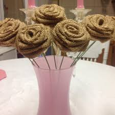 burlap decorations for wedding 30 burlap roses on stems light diy decorations diy