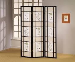 living room frosted glass room divider partition furniture black
