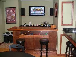 Tv Wall Mount Ideas by Interior Man Cave Bar Pertaining To Greatest Retro Wooden Chair