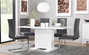 white dining room table extendable high gloss dining sets furniture choice
