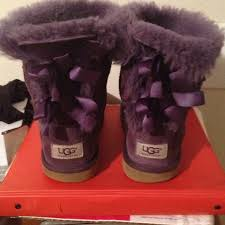 ugg bailey bow black sale 64 ugg boots purple ugg bailey bow from debra s