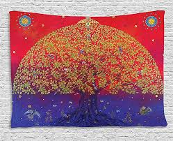 themed l ethnic tapestry by ambesonne sacred bodhi tree of themed