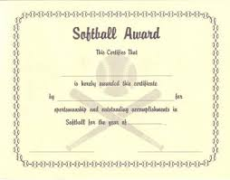 softball certificate softball certificate templates lexgstein