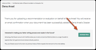 submit a letter of recommendation to interfolio help for letter