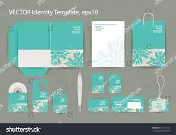 Corporate Invitation Card Design Vector Corporate Design Business Artworks Folder Stock Vector