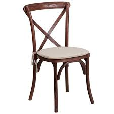 Cross Back Dining Chairs Hercules Wood Cross Back Dining Chair With Cushion Bar Stool Co