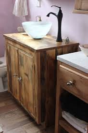Bathroom Vanities With Sitting Area by Barnwood Bathroom Vanity Dark Brown Finish Laminated Wooden Glass