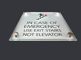 park place sign systems custom acrylic in case of emergency