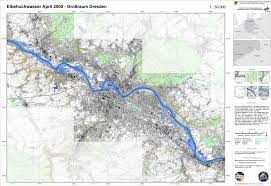 Dresden Germany Map by Topographic Map With Flood Mask Derived From Satellite Data From
