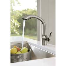 Pullout Kitchen Faucets Moen 7294srs Arbor Spot Resist Stainless Pullout Spray Kitchen