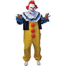 Halloween Clown Costumes Scary Scary Pennywise Clown Stephen King Fancy Dress Costume
