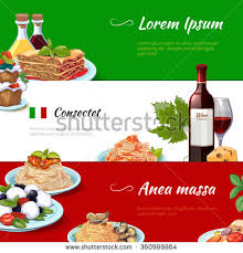 set cuisine food horizontal banners set cuisine เวกเตอร สต อก 360989864