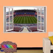 shop decoration barcelona camp nou football stadium 3d smashed wall sticker mural