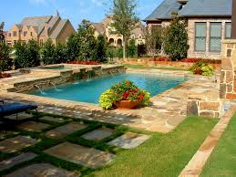 backyard design semi inground pool landscape ideas carolbaldwin