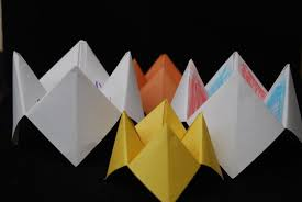 how to make a himmel oder h禧lle spiel paper fortune teller