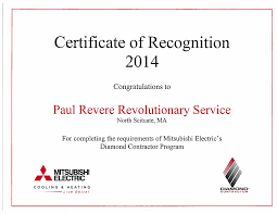 mitsubishi diamond mitsubishi electric mini split paul revere revolutionary service
