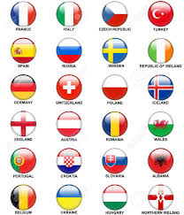 Country Flags England Glossy Round Buttons Or Badges Concerning Flags Of European