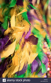 mardi gras feather boas green gold and purple mardi gras feather boa and stock photo